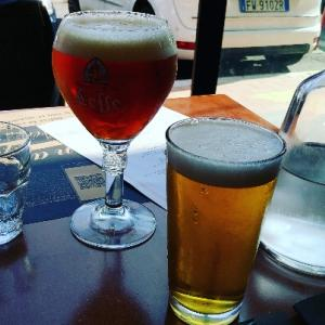 プール後はイタリアンランチ★ビールで乾杯,タルタル生肉も食べれて幸せ♥Dentrofuori