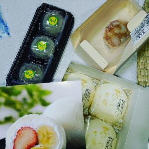 あ〜幸せ和菓子な時間♥ふるーつ大福といえば養老軒まさにはまってる(^o^)
