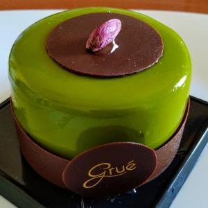 ピスタチオのチョコムースケーキ♥ピスタチオババロアチョコムースとダークチョコムース美味☆Gruè