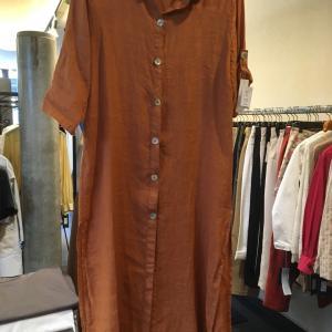 イタリア製リネン、夏の羽織りロングシャツ