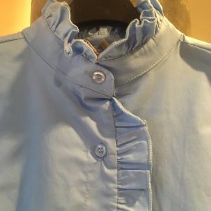 イタリア製スタンドフリルシャツ