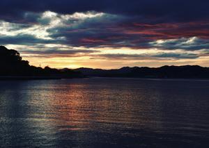 浜名湖(伊目)の夕暮れ 4