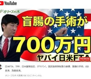 日米FTA、TPP、日米貿易協定、がヤバイ