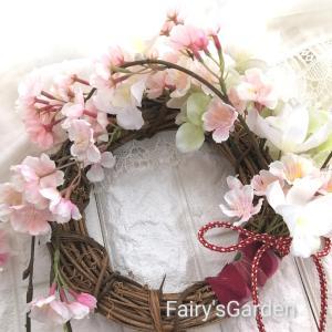 【ラスト1個です】枝垂れ桜の和リース