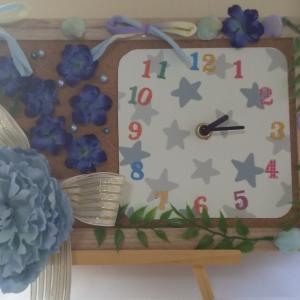 パパへの誕生日プレゼントはお花の時計 〜キッズ作品〜