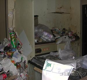 分別されていない大量のゴミ
