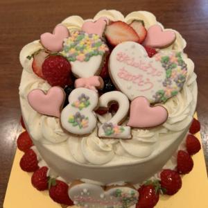 シフォンケーキで誕生日