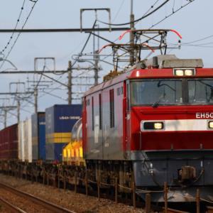 JR宇都宮線で貨物列車を撮影。