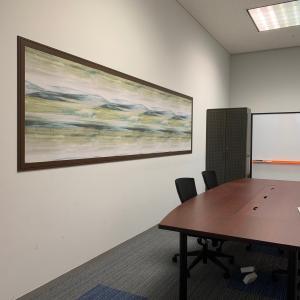 壁紙アートパネルでかっこいい事務所に!