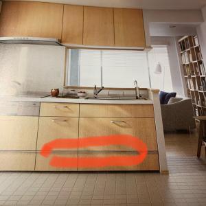 キッチン引出しの引手の高さに注目する