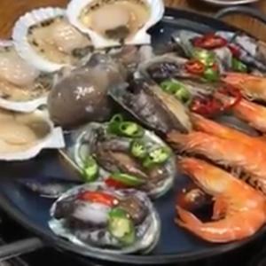 去年の今頃ソウルで食べたあわびづくし