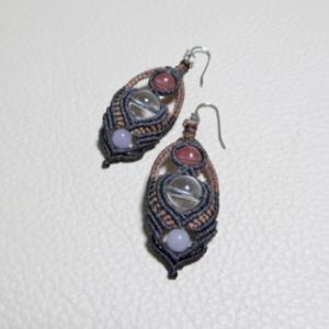 【マクラメ&ヘンプ】#250 水晶のマクラメネックレス
