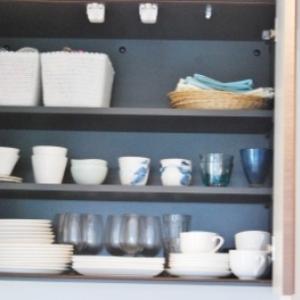 食器は白とブルーで統一