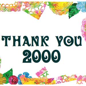 ブログ連続更新2,000日達成!