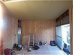 木造耐震補強工事-A邸 構造用合板