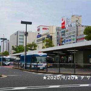 川崎駅東口で珍しいバスの3台並び