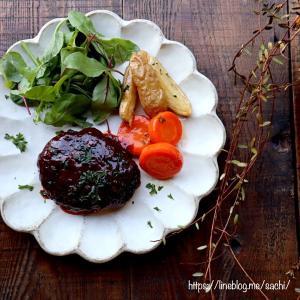 ハンバーグ ケチャップと赤ワインのソース♡【簡単レシピ#ハンバーグ#定番】