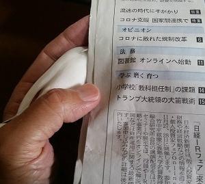 『新聞でかくれんぼ?~換羽で大きな羽根が4枚!』の巻♪