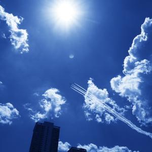 ブルーインパルス東京の空 #医療従事者にエール #みてくれ太郎