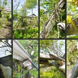 強風によるパーゴラの倒壊と修復の様子です!