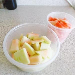 誤嚥  ---  チキンレッドタイカレー&イカとキャベツの和風サラダ