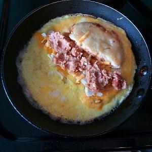青いサイ   ---   そばの実卵雑炊とレンズ豆スープカレー