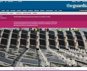 イギリスのロンドン郊外に欧州最大6.3MWpの浮体式太陽光発電所が登場