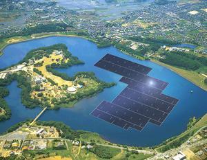 京セラ、千葉県で水上として世界最大級約13.7MWp 山倉水上メガソーラーの建設を開始