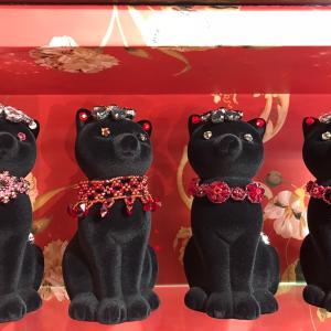 スワロフスキーブレスの黒猫