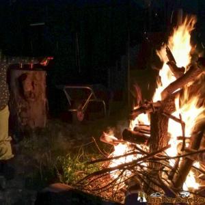 <動画あり>連日 自宅でバーベキューとキャンプファイヤー   能登での田舎暮らし