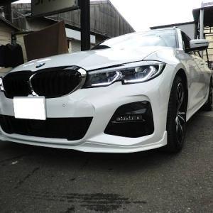 BMW 3シリーズに スポイラー 取り付け完成