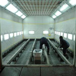 塗装ブース 掃除 排気フィルター交換