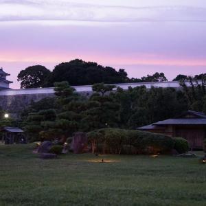 兵庫県立明石公園(明石城)夕景から夜景へ