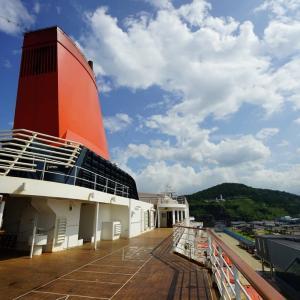 にっぽん丸 済州島と海峡花火・阿波おどりクルーズ  乗船客が少ない時間に