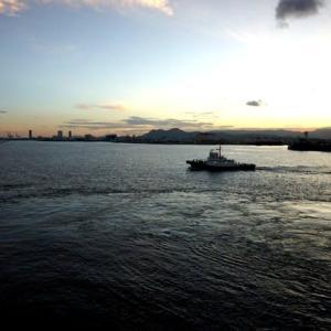 にっぽん丸 済州島と海峡花火・阿波おどりクルーズ 博多港入港・朝食
