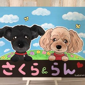 さくらちゃんらんちゃんの似顔絵&イベントのお知らせ☆