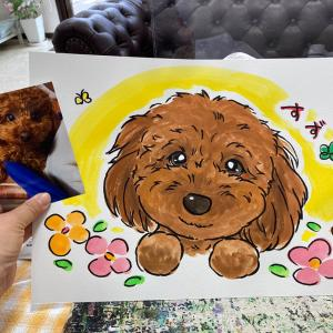 2021年4月18日ペットサロン「Is dog愛西店」でのわんこ似顔絵ご紹介(後半)