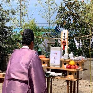 地鎮祭。今度も香取市