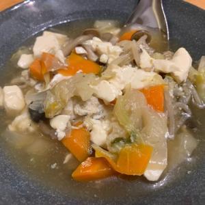 今朝も野菜スープを♪@家ごはん