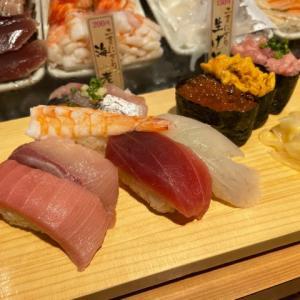 立ち寿司でサクッと♪@魚がし日本一 フェスティバルプラザ店