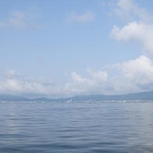 6月2日の琵琶湖 風が吹いたタイミングで…