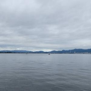 6月25日の琵琶湖 ポツポツでした。