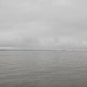 7月4日の琵琶湖 雨風強し(涙)