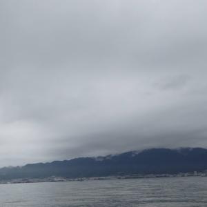 7月5日の琵琶湖 予報外に晴れて暑くなりました。