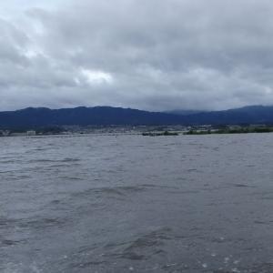 7月12日の琵琶湖 ちょっと涼しすぎですね。