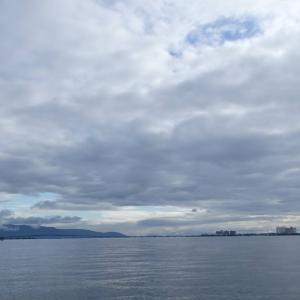 7月16日の琵琶湖 梅雨の晴れ間は暑い(笑)