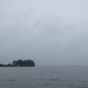 7月17日の琵琶湖 思ってもみなかった雨、気温、水温上がらず、チーン(涙)
