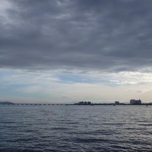 8月10日の琵琶湖 今日は暑かった。