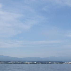 8月17日の琵琶湖 大型連休明けでした。