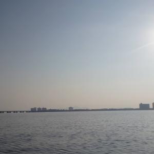 8月20日の琵琶湖 子バスは遊んでくれました。